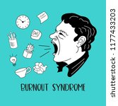 mental health. burnout syndrome.... | Shutterstock .eps vector #1177433203