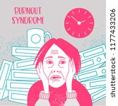 mental health. burnout syndrome.... | Shutterstock .eps vector #1177433206