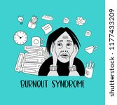 mental health. burnout syndrome.... | Shutterstock .eps vector #1177433209