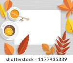 vector top view of autumn still ... | Shutterstock .eps vector #1177435339