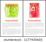 preserved food poster lime or... | Shutterstock .eps vector #1177435603