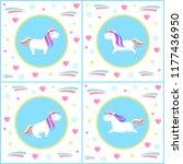 unicorns design of mythological ... | Shutterstock .eps vector #1177436950