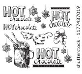 hot chocolate  winter holiday... | Shutterstock .eps vector #1177437019