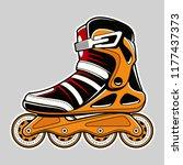 inline roller skate extreme... | Shutterstock .eps vector #1177437373