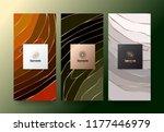 vector set packaging templates... | Shutterstock .eps vector #1177446979