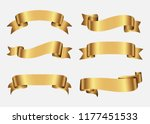ribbon banner set.vector... | Shutterstock .eps vector #1177451533