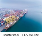 aerial view container ship... | Shutterstock . vector #1177451620
