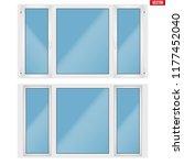 set of metal plastic pvc window ... | Shutterstock .eps vector #1177452040