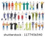 people character and uniform... | Shutterstock .eps vector #1177456540