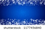 christmas frame with falling...   Shutterstock .eps vector #1177456840