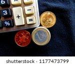 calculator. euro. us dollar.... | Shutterstock . vector #1177473799