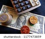 currencies. calculator. us... | Shutterstock . vector #1177473859