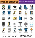 back to school and education... | Shutterstock .eps vector #1177480006