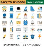 back to school and education... | Shutterstock .eps vector #1177480009