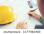 architect or engineer working...   Shutterstock . vector #1177482400
