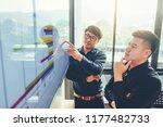 business people presentation on ...   Shutterstock . vector #1177482733