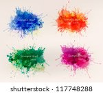 collection of colorful abstract ... | Shutterstock .eps vector #117748288