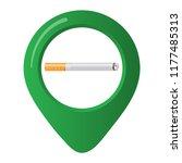 smoking area marker map pin... | Shutterstock .eps vector #1177485313