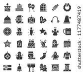 merry christmas icon set 4 ... | Shutterstock .eps vector #1177487419