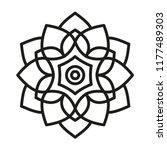 mandala shape for coloring....   Shutterstock .eps vector #1177489303