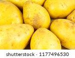 raw potatos isolated on white... | Shutterstock . vector #1177496530