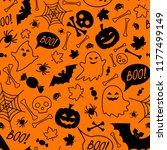 halloween festive seamless... | Shutterstock .eps vector #1177499149