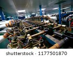 gloves factory production... | Shutterstock . vector #1177501870