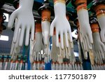 gloves factory production... | Shutterstock . vector #1177501879