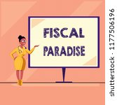 word writing text fiscal... | Shutterstock . vector #1177506196