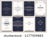 monogram creative cards... | Shutterstock .eps vector #1177509883