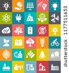 vector energy icons set with... | Shutterstock .eps vector #1177511653