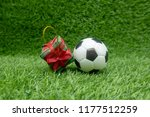 football with gift for soccer... | Shutterstock . vector #1177512259