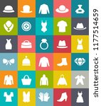 vector fashion clothing icons... | Shutterstock .eps vector #1177514659