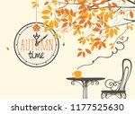 vector landscape in retro style ... | Shutterstock .eps vector #1177525630