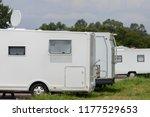 caravans parked in the parking... | Shutterstock . vector #1177529653