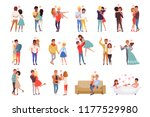 young men and women characters... | Shutterstock .eps vector #1177529980