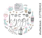 vector illustration with time... | Shutterstock .eps vector #1177532413