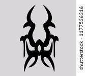 vector ornaments  for tattoo... | Shutterstock .eps vector #1177536316