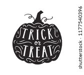 trick or treat lettering.... | Shutterstock .eps vector #1177540396