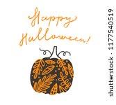 happy halloween. beautiful... | Shutterstock .eps vector #1177540519