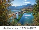 famous bridge over accumulation ... | Shutterstock . vector #1177541359
