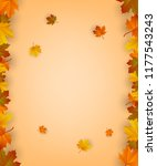 autumn background with falling...   Shutterstock .eps vector #1177543243