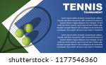 tennis tournament poster design.... | Shutterstock .eps vector #1177546360
