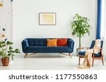 mid century modern chair with a ... | Shutterstock . vector #1177550863