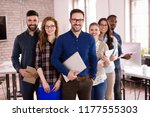group of successful young... | Shutterstock . vector #1177555303