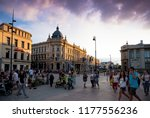 lublin  poland   july 27  2018  ...   Shutterstock . vector #1177556236