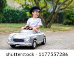 happy kid boy playing with big...   Shutterstock . vector #1177557286