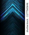 abstract blue light black line... | Shutterstock .eps vector #1177560646