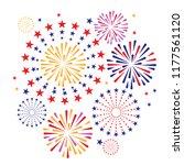 colorful firework on white... | Shutterstock .eps vector #1177561120