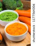 vegetable puree  carrots ...   Shutterstock . vector #1177564306